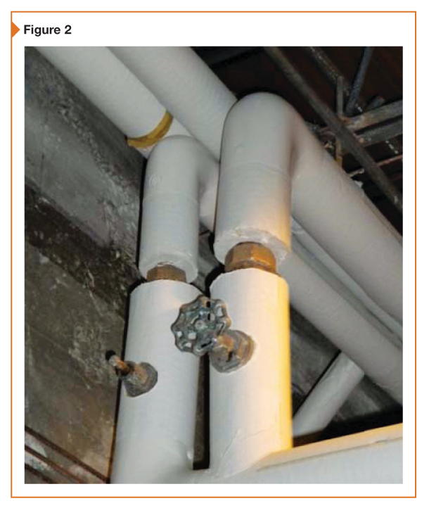 These uninsulated unions and valve bonnets are used in heating hot water lines.