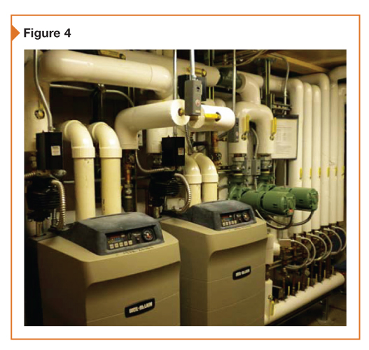 A building's boiler installation is shown here.