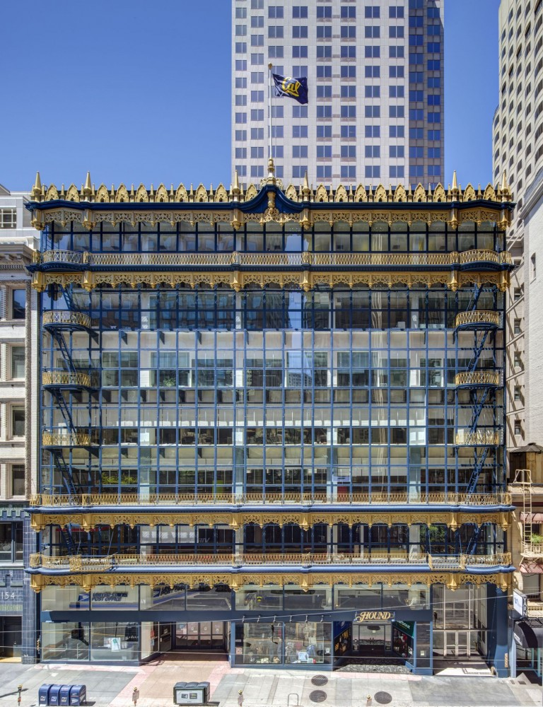 The Hallidie Building is one of the world's first glass curtain-wall buildings. Photo © Sherman Takata, Takata Photography