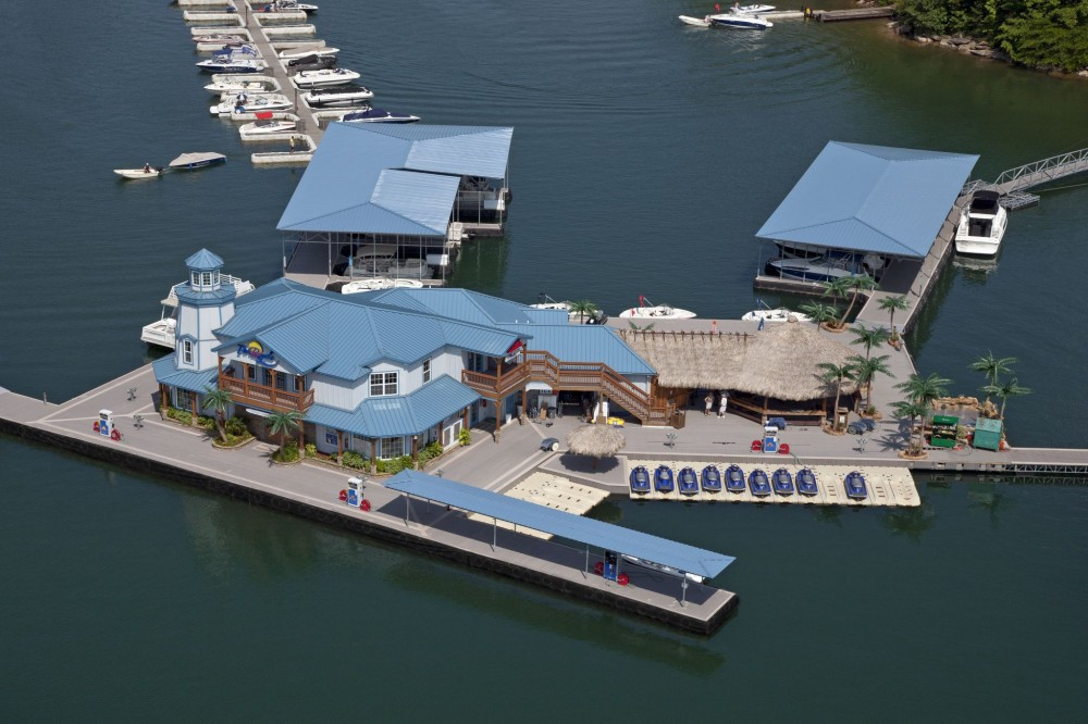 The Port Royale Marina, on Georgia's Lake Lanier, uses composite decking throughout its facilities.