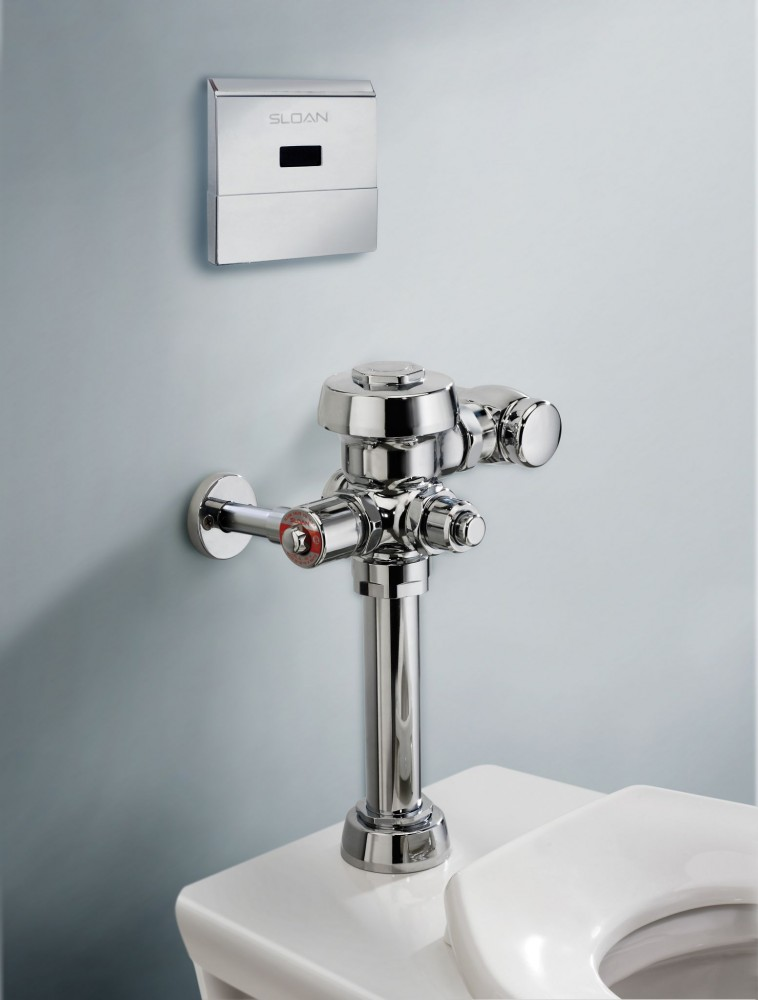 Concealed, hardwired-sensor flushometers with true mechanical override functionality enable manual flushing even during a power outage.