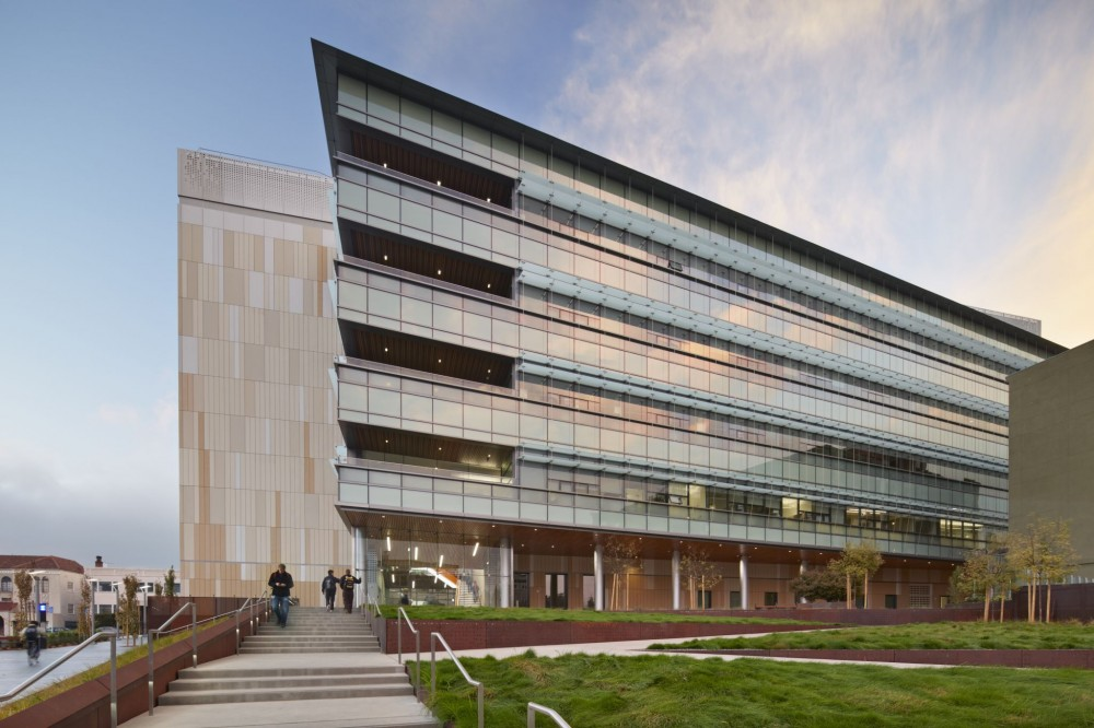 The University of California at Berkeley's (UC Berkeley's) newly opened Energy Biosciences Building is the most energy-effi cient facility on campus, thanks in part to its windows. According to lead architect Johnny Wong of San Francisco-based SmithGroup JJR, the building was designed and constructed to meet Silver under the U.S. Green Building Council's (USGBC's) Leadership in Energy and Environmental Design (LEED) program. Photo © Bruce Damonte. Photo courtesy Wausau