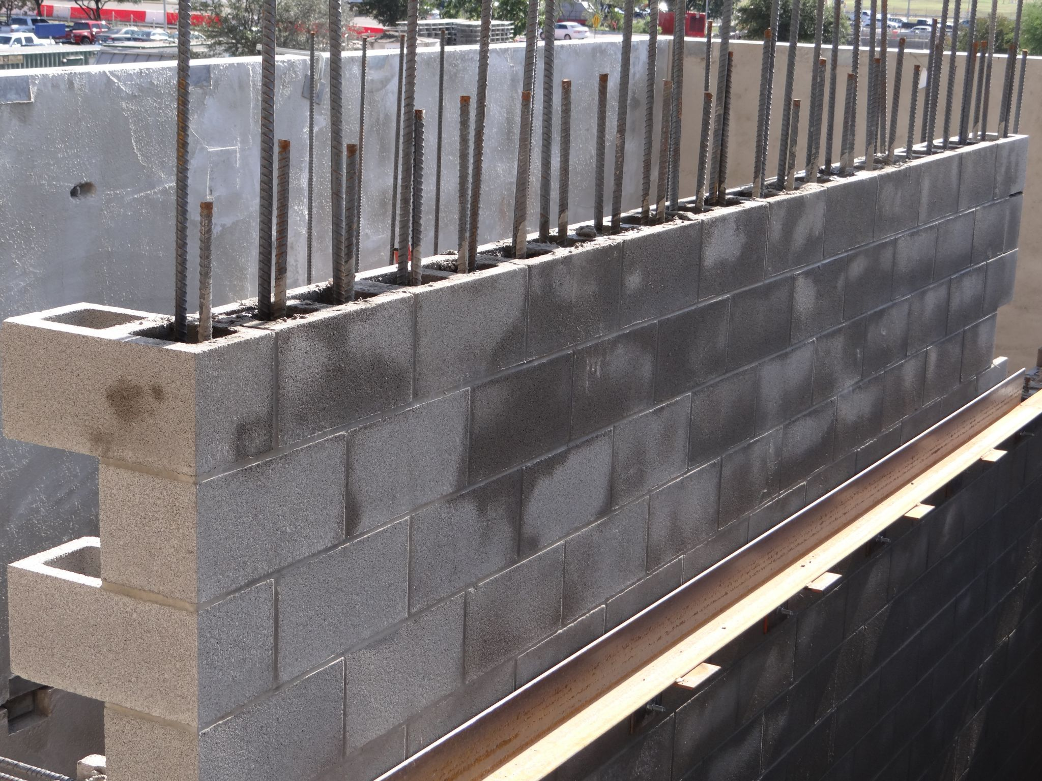 Durable waterproofing for concrete masonry walls for Concrete block walls design