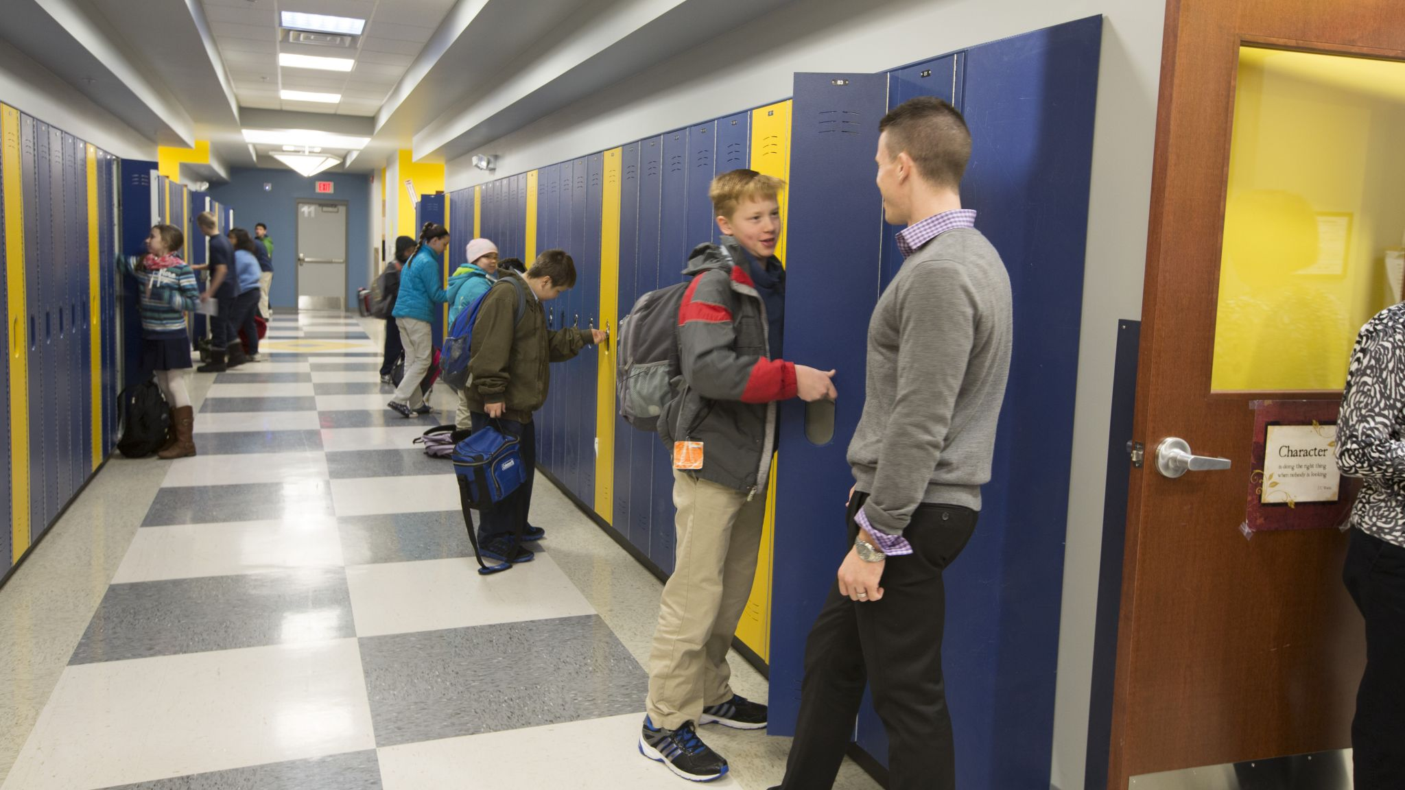 These lockers are able to stand up to the everyday wear and tear of students.