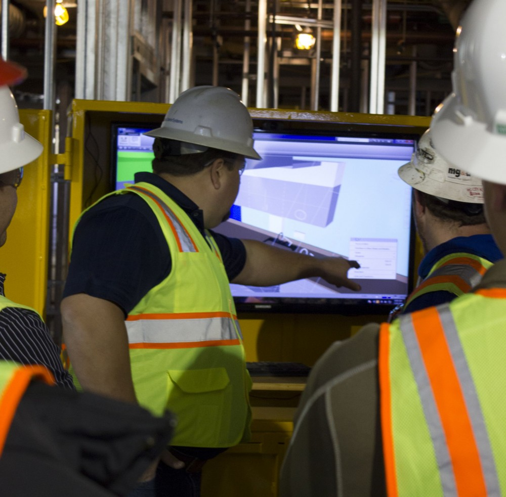 Large BIM projects typically have onsite work stations allowing workers of all trades view 3D models to identify and avoid potential clashes or inconsistencies.