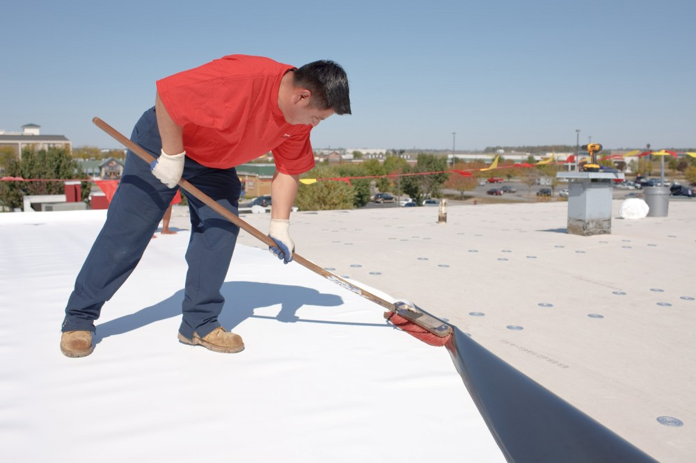 Thermoplastic polyolefin (TPO) is a relatively new material, but makes up one of the fastest-growing sectors of the commercial roofing industry. All images courtesy Firestone Building Products