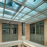 At Northwestern University, this fire-rated glass floor provides a barrier to flames and smoke, but offers daylighting and a unique look. Photo courtesy Technical Glass Products