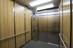 Affected products, in elevators and elsewhere throughout the building, can include paints, coatings, adhesives, and sealants used by the manufacturer, and wood or agrifiber products in the floor, walls, or ceiling.
