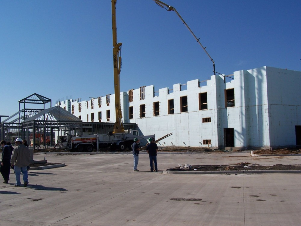 Building hotels with ICFs can allow construction to advance at a rate of one fl oor per week. Photo courtesy Nudura