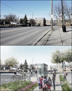 Another past winner of Greening America's Capitals, Des Moines, Iowa's 6th Avenue redesign provides landscaped areas to absorb and clean stormwater, local art within public infrastructure, and new bus shelters.