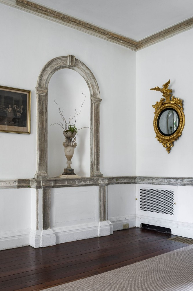 The discreet indoor units blend with Strawberry Mansion's historic decor while providing the climate control necessary to preserve the mansion's collection of antiques and fi ne art.