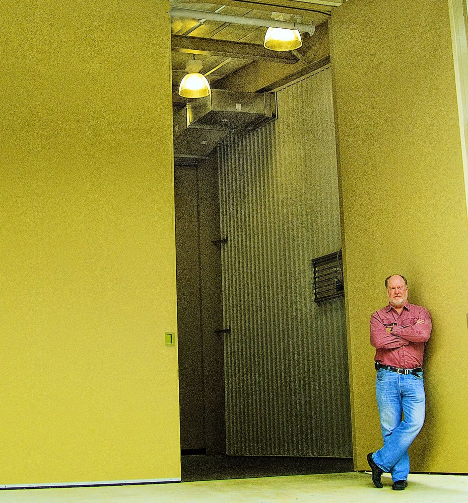 Acoustical doors are available in a wide range of sizes for a wide range of applications, such as this Georgian power plant.