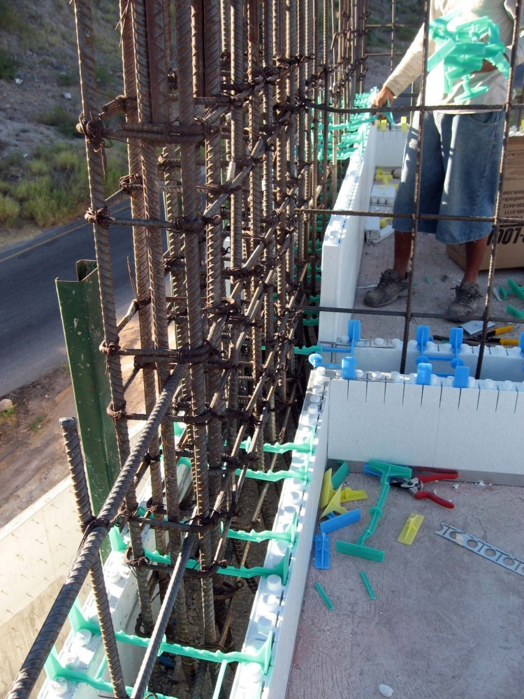 Complex reinforcing requirements presented installation challenges overcome by an ICF design offering separate panels and ties that fi t around the rebar.