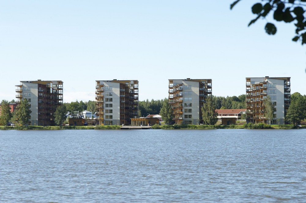 Limnologen in Växjö, Sweden—taller wood-framed projects are appearing around the world. A new U.S. initiative is seeking nominees. Photo courtesy Midroc Property Development