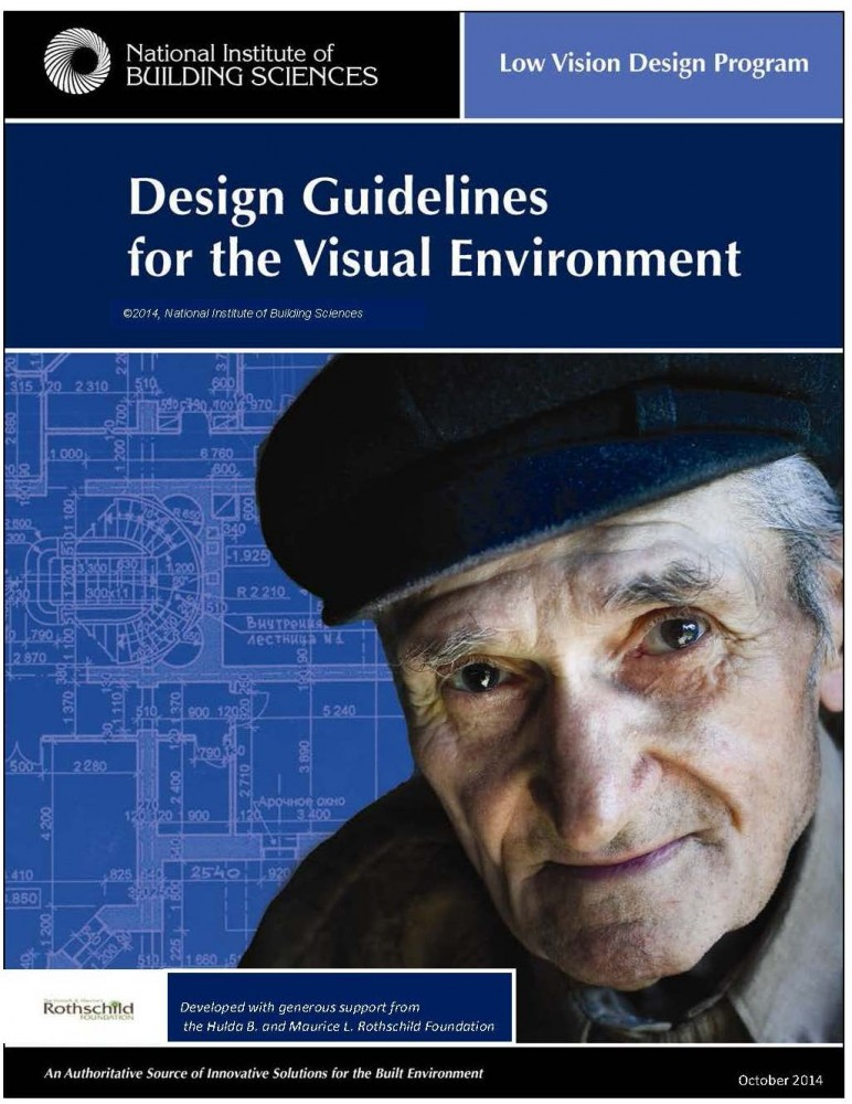 The Low Vision Design Committee (LVDC) is seeking input on the newest draft of its guidelines for the visual built environment. Image courtesy Low Vision Design Committee