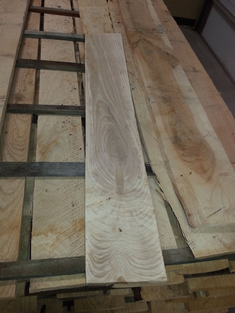Rough-sawn and planed urban ash board. Photos courtesy J. Gerard Capell