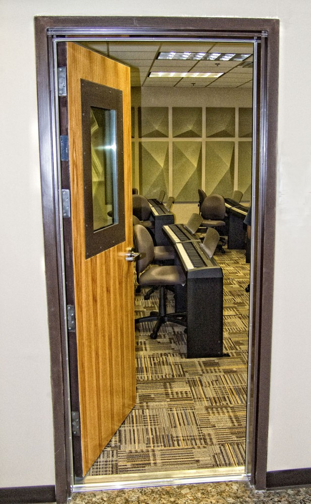 The windows and door for this West Point recording studio needed to meet certain sound requirements.