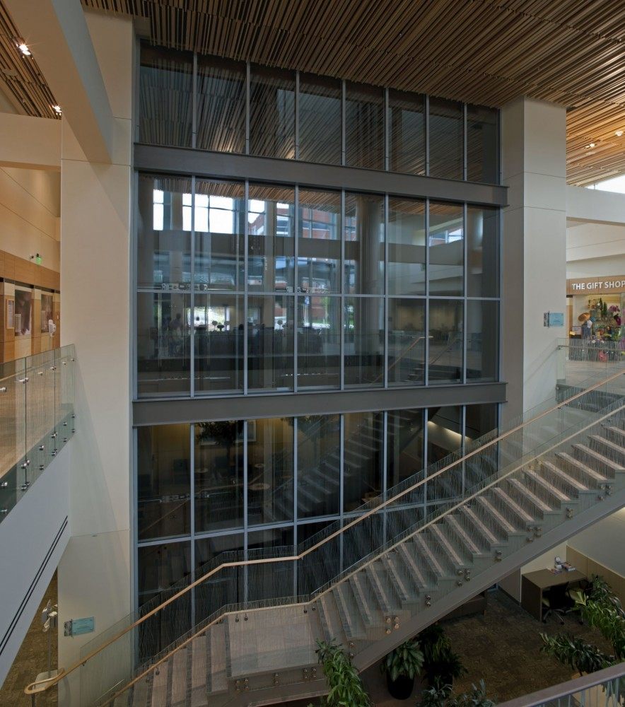 Fire-rated curtain walls can satisfy life safety requirements without sacrificing transparency. All images courtesy TGP