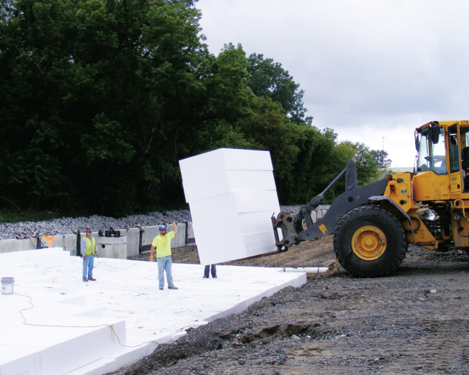 EPS can offer myriad benefits when used in geofoam applications.