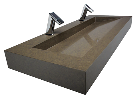This Type Of Open Front Sink System Uses A Contemporary Linear Drain Design  Instead Of A Traditional Round Drain.