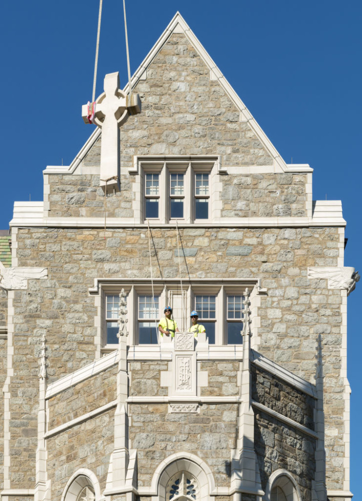 St. Mary's Hall, one of Boston College's original buildings, underwent interior and exterior renovations, as well as structural improvements. Photos courtesy Boston College