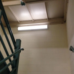 The retrofit featuring the motion-controlled bi-level lighting technology provides a functional solution for stairwells at the West Palm Beach Veterans Affairs Medical Center (VAMC) by offering the right amount of light and reduced maintenance. Photo courtesy LaMar Lighting Company