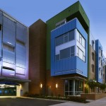 Insulated metal panels (IMPs) and single-skin panels were used for the eye-catching Mosaic Village dorm project at Charlotte, North Carolina's Johnson C. Smith University (JCSU). Photos courtesy Neighboring Concepts