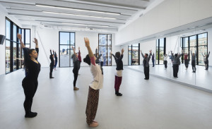 Design considerations included isolating sound between spaces, such as this dance studio.