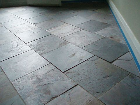 Natural Stone Tile Floor Installation
