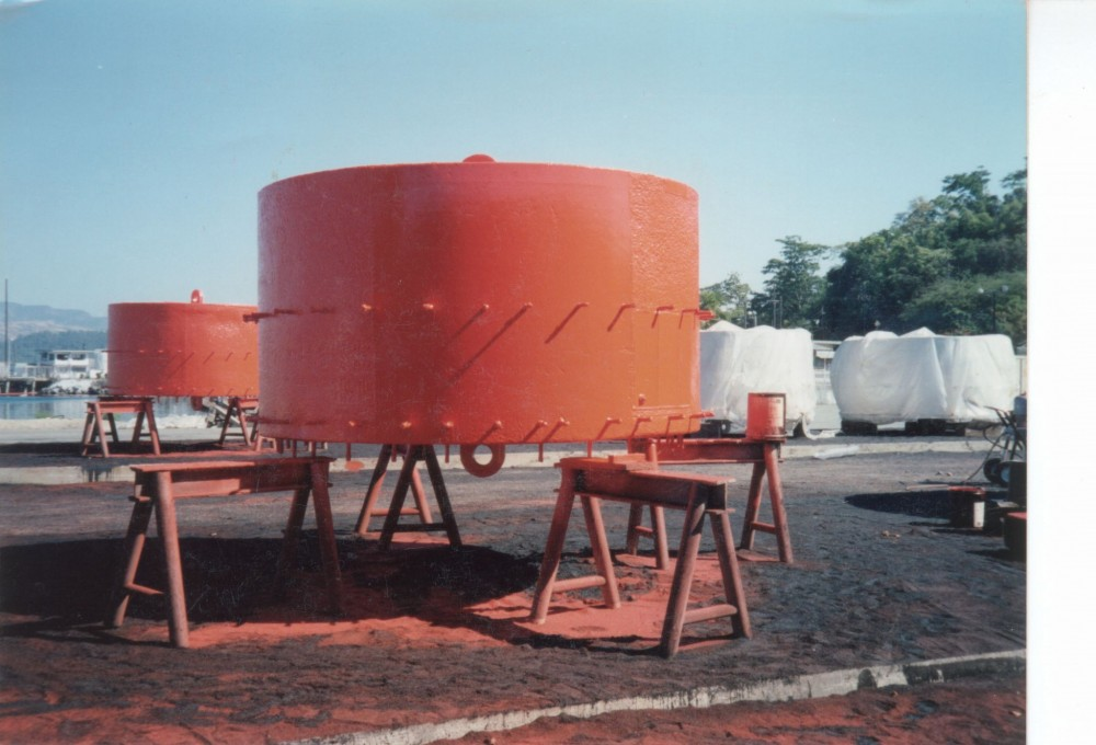 A low-toxicity polyurethane coating was used on the structural concrete for this wastewater treatment plant.