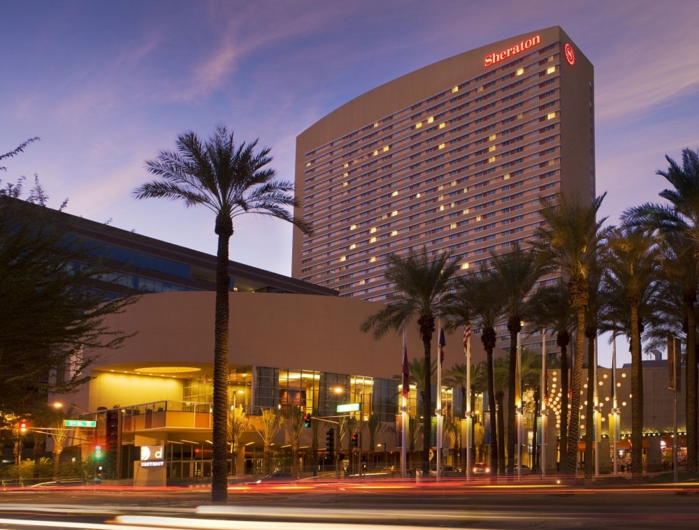 The Sheraton Phoenix Downtown Hotel uses a BACnet (data communication protocol for building automation and control networks) compatible building automation system (BAS) for energy savings and occupant comfort. All images courtesy Alerton