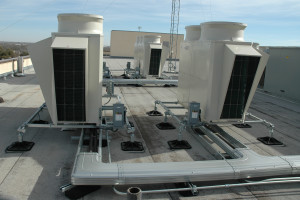 A proprietary lineset protection duct and mounting system offered an aesthetic solution for the installation of the building's new HVAC equipment.