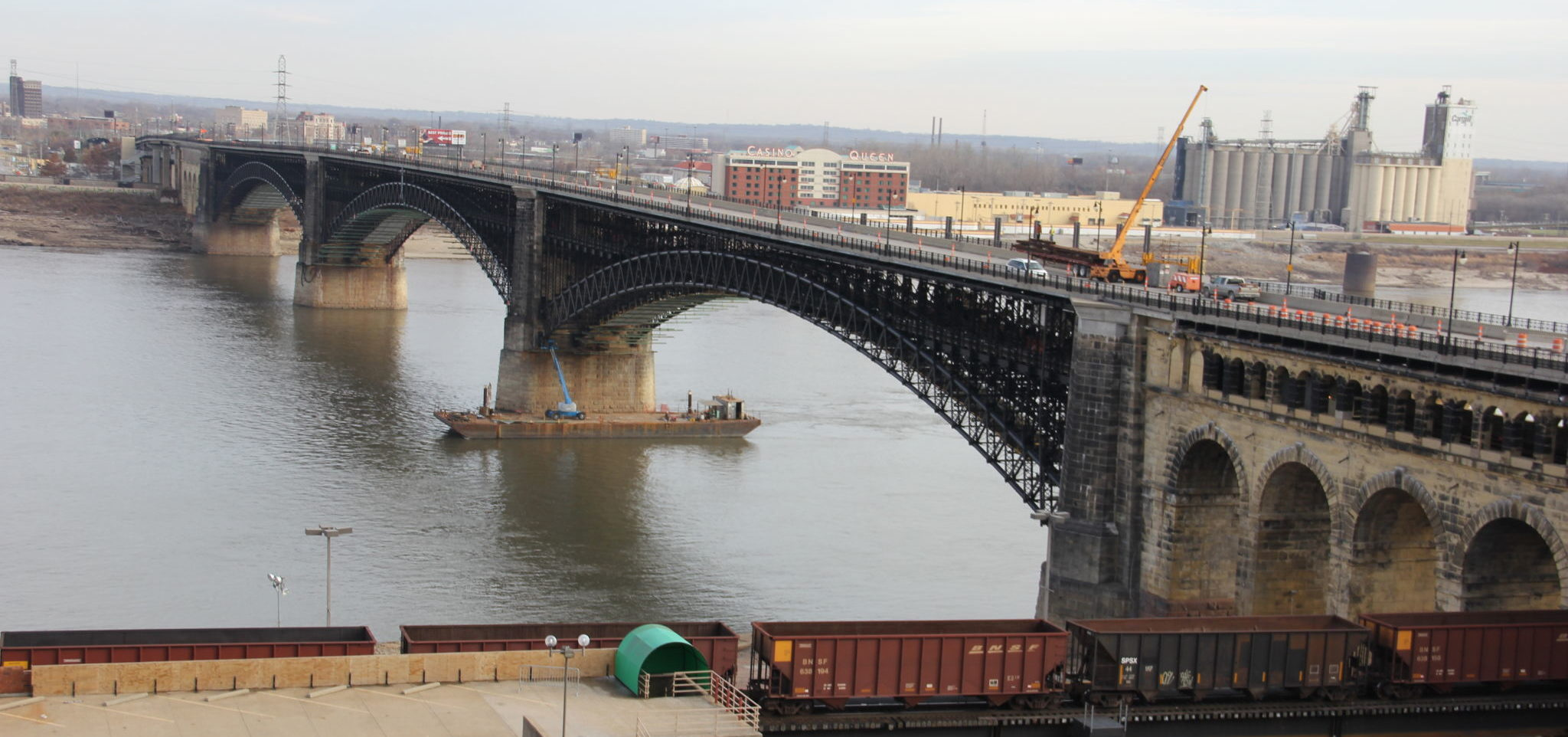 The north side of St. Louis' Eads Bridge after repairs. Photo courtesy Bi-State Development.