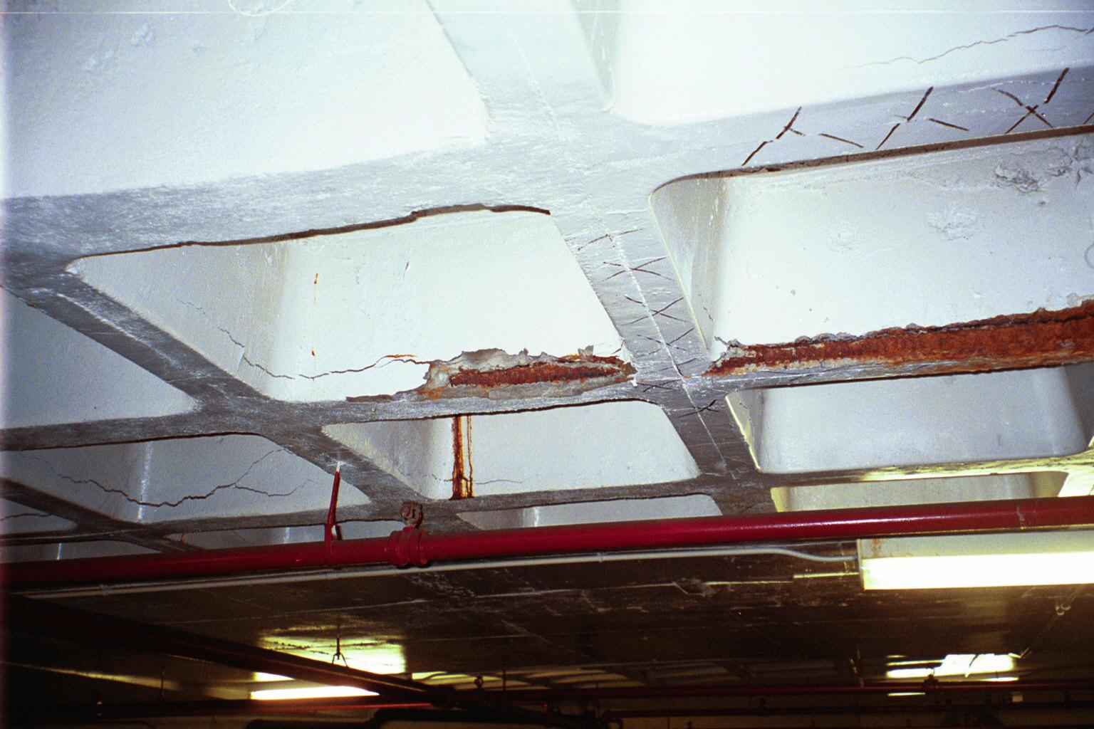 Penetrate garage ceiling
