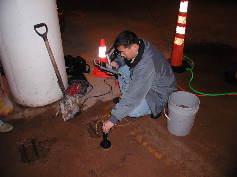 Evaluating the condition of the concrete slab is an important part of the coating selection process.