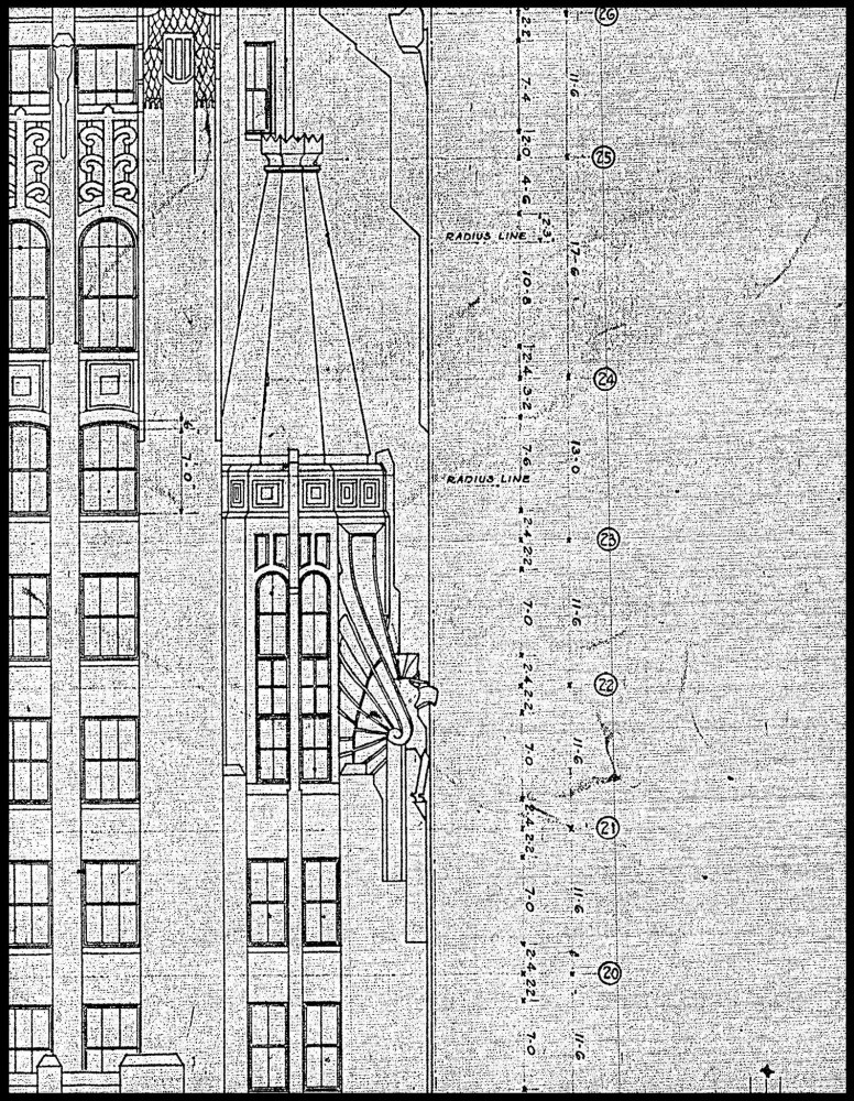 Detail from the original architectural drawings. Image courtesy Taylor & Fisher-Smith & May
