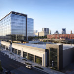 Approximately 4320 m2 (46,500 sf) of high-performance proprietary curtainwall was used in the design of Gulch Crossing, in Nashville, Tenn. Photos © Attic Fire. Photos courtesy Esa, Nashville and Wausau