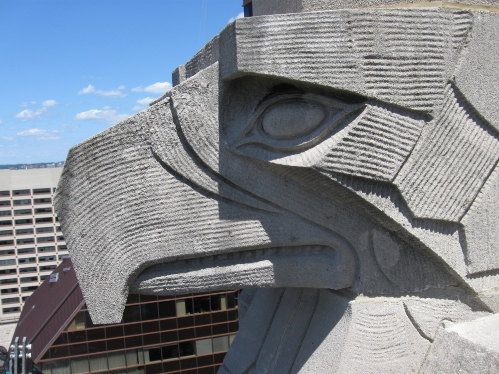 A falcon head on the 29th floor.