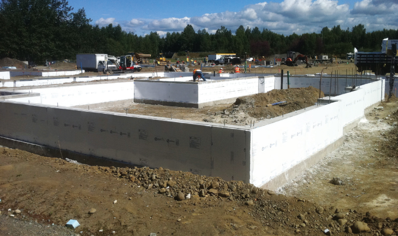 Rigid foam insulation can be used on either or both the exterior and interior of below-grade foundation walls.