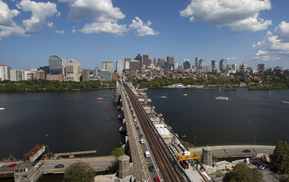 A look at Longfellow Bridge, which crosses the Charles River to connect Boston's Beacon Hill neighborhood with the Kendall Square area of Cambridge, Massachusetts. Photo Ⓒ MarkFlannery.com