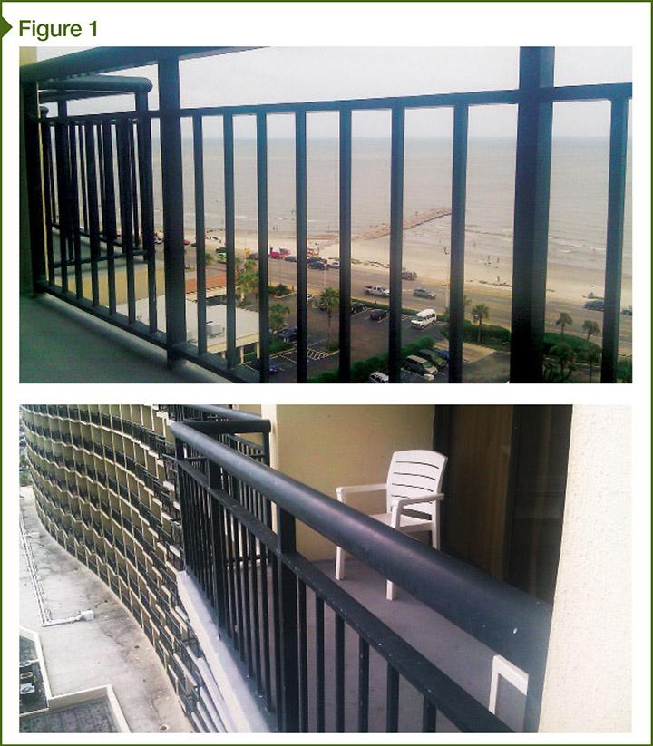 aluminum frame railings images courtesy mahmod samman - Balcony Railing