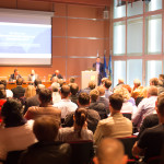 Business Conference and Presentation. Audience at the conference hall. ** Note: Soft Focus at 100%, best at smaller sizes