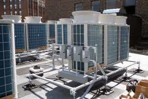 A historic building, the Detroit Institute of Music Education (DIME) features proprietary equipment mounts with footings for strategic weight distribution of rooftop HVAC systems.