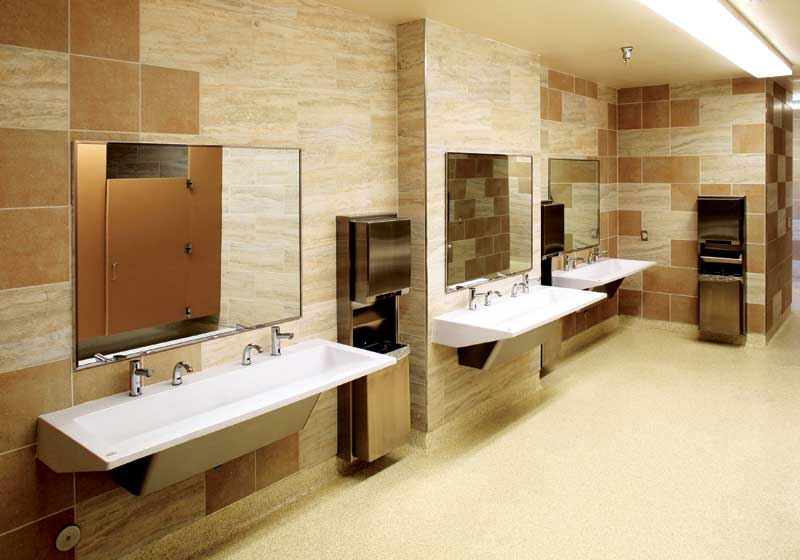 BIM basics for toilet room washroom and locker room design