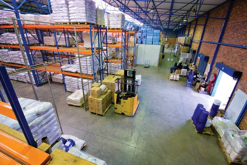 Warehouses, like the one above, can have improved air ventilation and temperature regulation with HTHC units, ensuring proper temperature for materials and workers. Photo © Bigstock.com