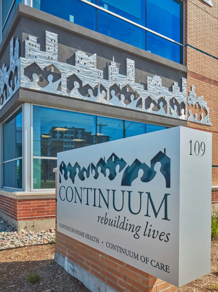 Continuum's new headquarters in New Haven, Conn., opened in April, amalgamating its previous offices and satellite locations. Photo © Robert Benson Photography. Photo courtesy Svigals + Partners