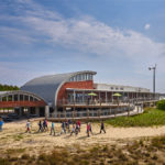 Design features of Chesapeake Bay Foundation's (CBF's) Brock Environmental allow it to generate more energy than it uses. Photos © Prakash Patel. Photos courtesy SmithGroupJJR