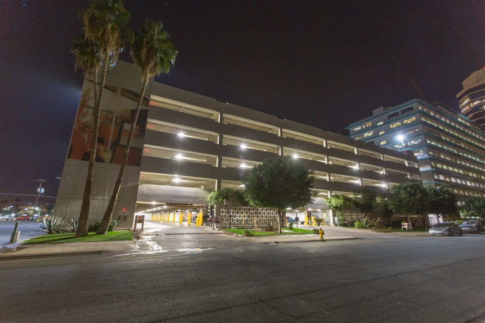 A new LED lighting system installed in the parking garage at U-Haul's corporate headquarters is allowing the company to enjoy better light quality and performance, lower maintenance needs, and reduced energy costs. Photos courtesy Cree