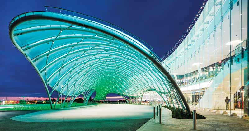 Breaking The Glass Roof Building With Etfe Architecture