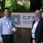 Nate Bacon, president of Base Design Group, Inc. (left), accepts the first place 2016 CFSEI Design Excellence Awards from Robert Warr, 2016-2017 chairman of the CFSEI Executive Committee.  Photo courtesy of CFSEI